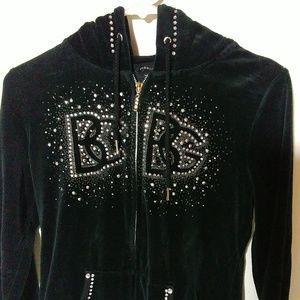 Awesome Embellished BCBGmaxazria zip up Hoodie!!
